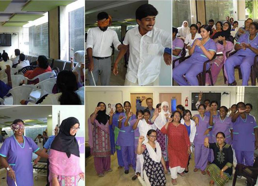 Hospitals and clinics sensitization