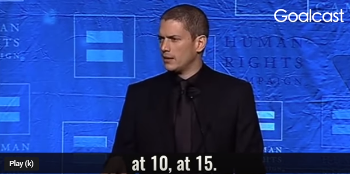 Inspiring speech of Wentworth Miller