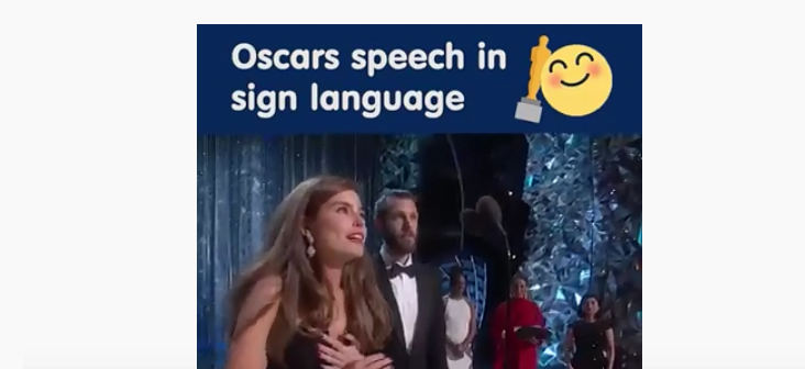 Oscars speech in sign language