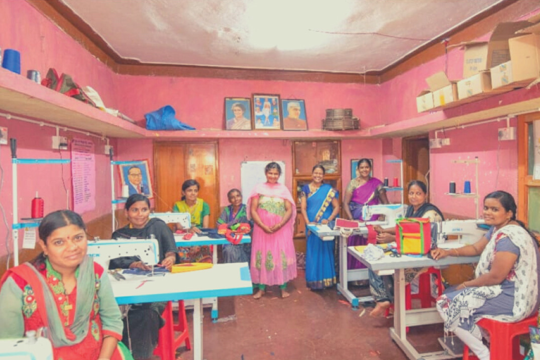 women tailors getting trained in bagalkot centre