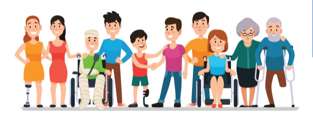 people with and without disability together